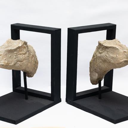 TWO GOLD REX BOOK HOLDERS FROM NZD $120