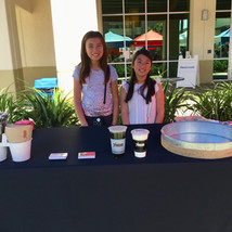selling 7 leaves at children's business fair