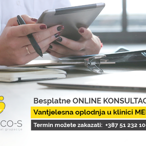 Nudimo mogućnost besplatnih online konsultacija