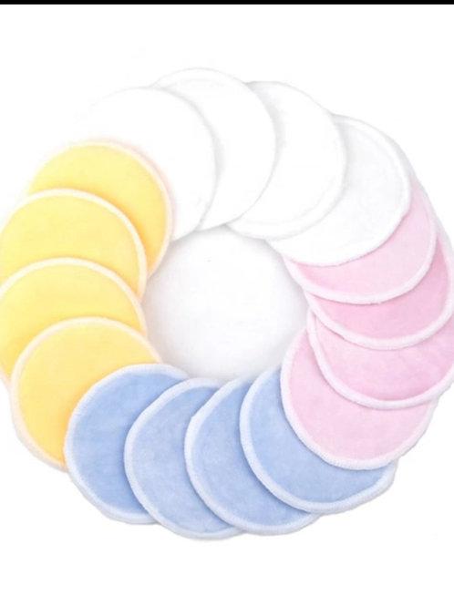 "Nursing Washable Breast Pads with Laundry Bag 14pk/4.8"" Large"
