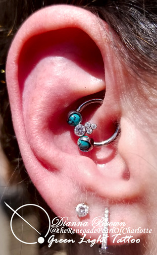 Upgraded Healed Daith Piercing