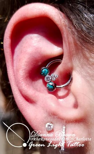 Upgraded Healed Daith Piercing