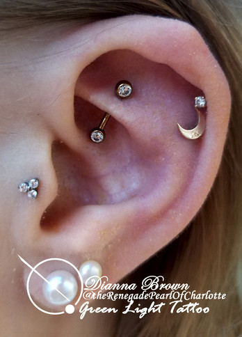 Rook Piercing with Anodized Curved Barbell