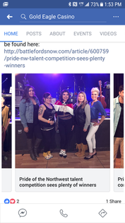 March 25, 2018 - Pride of the Northwest Talent Show, Battlefords SK.