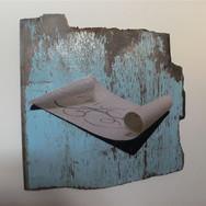 Martha Haversham 2010 scroll on blue wood 2.JPG