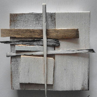 Salt Marsh Wood Construction in White and Grey 2013