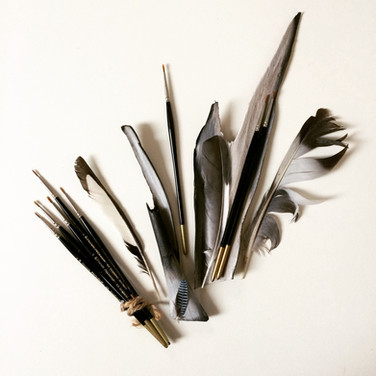 Still life with artist brushes by Martha Havers