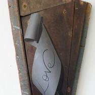 Love Scroll on Driftwood 2011