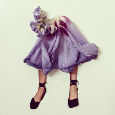 Lilac Petal Skirt Collage 2018