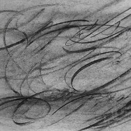 Beginning a charcoal workout - headphones on! #charcoal #drawing #dance #movement #markmaking #form #calligraphy #abstractdrawing