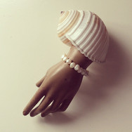 Shell Sleeve with Seed Pearl Bracelet Prop Styling 2018