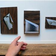 Three Scrolls on Wood Veneer 2013