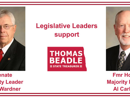 Legislative Leaders Support Thomas Beadle