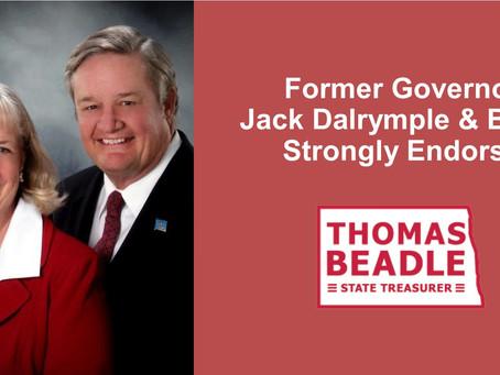 Dalrymple endorses Beadle for Treasurer