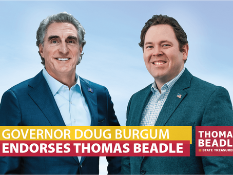 Governor Burgum endorses Thomas Beadle