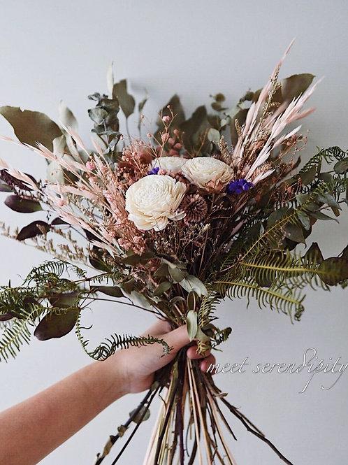 手綁大型乾燥花束