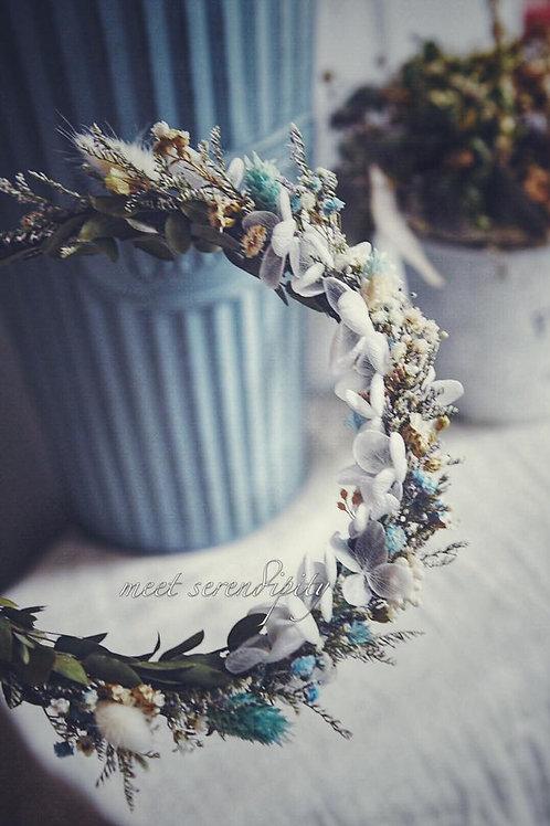 客製永生花/乾燥花新娘頭飾