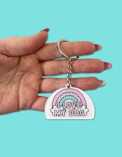 I Love My Dog Keyring
