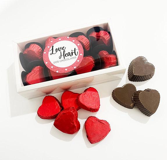 Love Heart Dog Chocolates