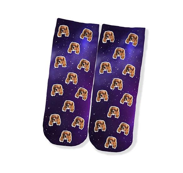 Pet Face Galaxy Socks