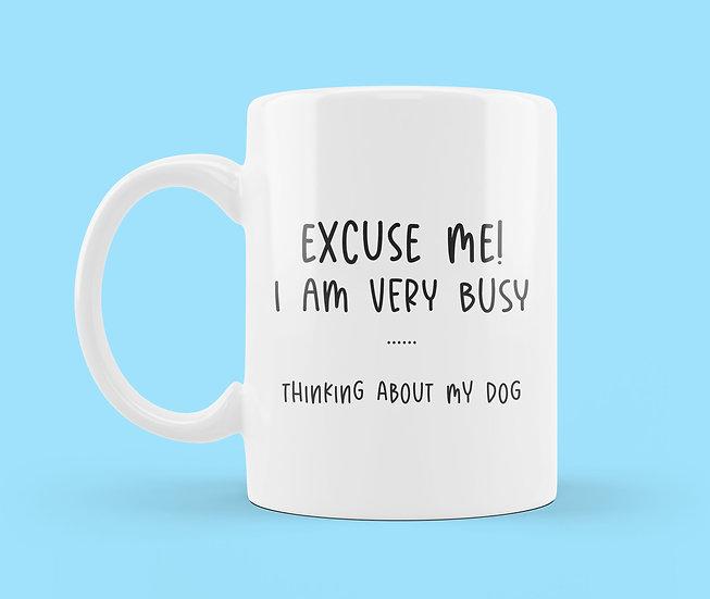 Thinking About My Dog Mug