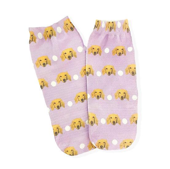 Pet Face Polka Dot Pattern Socks