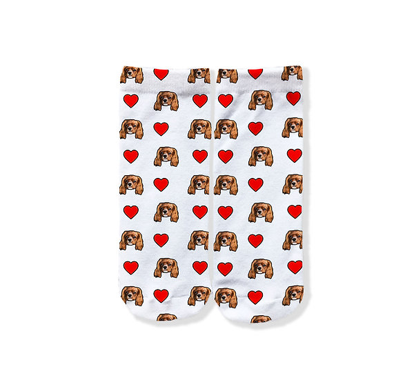 Pet Face Love Heart Socks