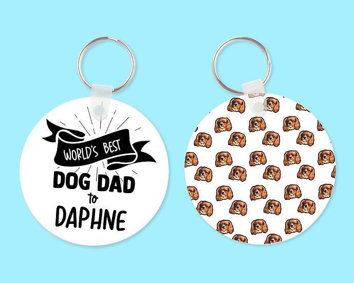 Worlds Best Dog Dad Keyring