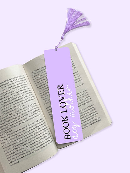 Book Lover, Dog Mother Aluminium Bookmark
