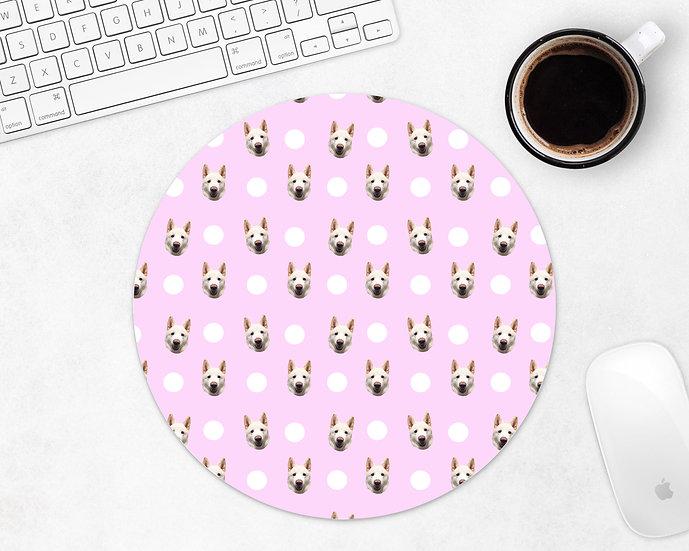 Personalised Polka Dot Mouse Pad