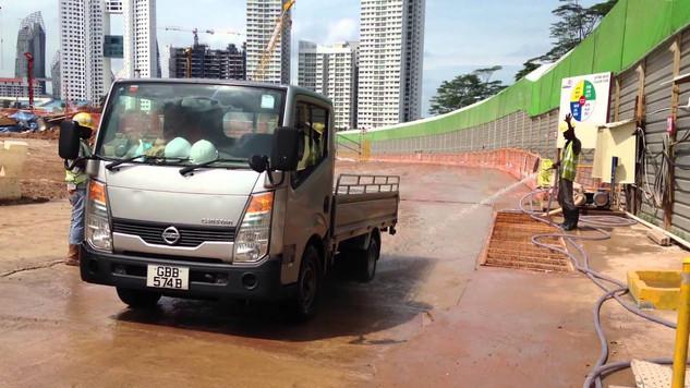 Koshin Pabool pump SU for washing bay at construction site