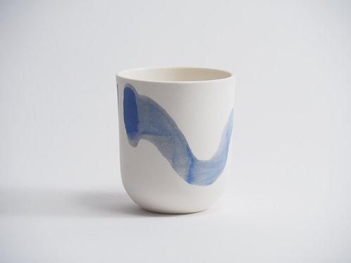 gobelet bleu-gris