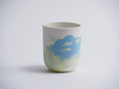 gobelet bleu-jaune