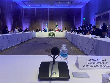 Presencia de la CCMA en el Encuentro Empresarial  Durante la Gira en México del Presidente Fernández