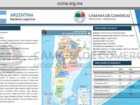 Ficha técnica de Argentina y su relación con México