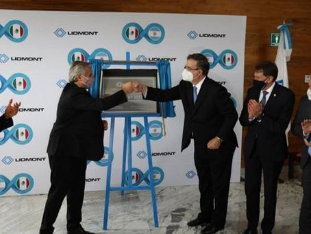 El Presidente Alberto Fernández y el Canciller Marcelo Ebrard, visitan Laboratorios Liomont