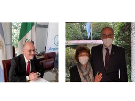 El Embajador Carlos Tomada Entrega Cartas Credenciales