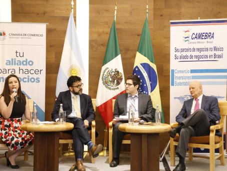 Exitoso evento sobre la ampliación de las Relaciones Comerciales México - Argentina y Brasil