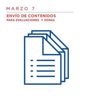 Marzo 7 Envío de contenidos para evaluaciones