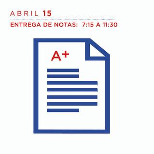 ABRIL 15 Entrega de notas