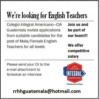 We´re looking for english teachers
