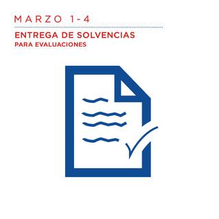 Marzo 1 al 4 Entrega de solvencias