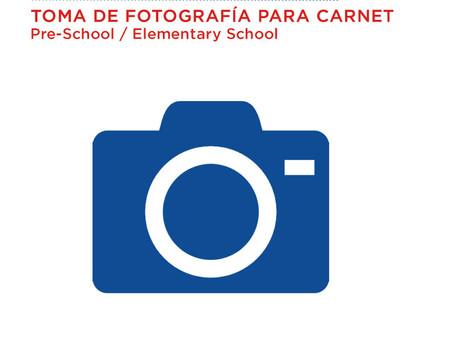 Feb - 3 Toma de fotografía para el Carnet  (Pre-school y Elementary school)