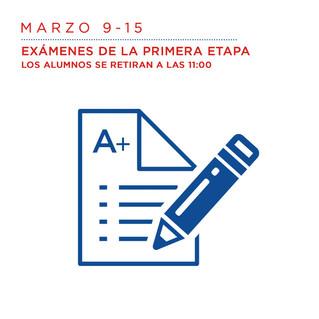 Marzo 9 al 15 Exámenes