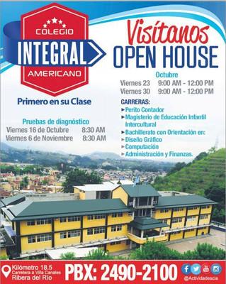¡VISITANOS EN OPEN HOUSE!