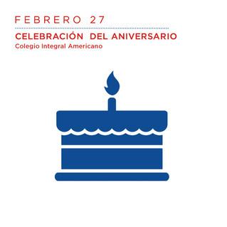 Feb - 27 Celebremos juntos el aniversario del colegio