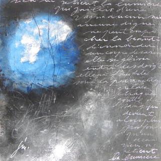 Françoise Michaud calligraphie Technique mixte sur papier - 20x20
