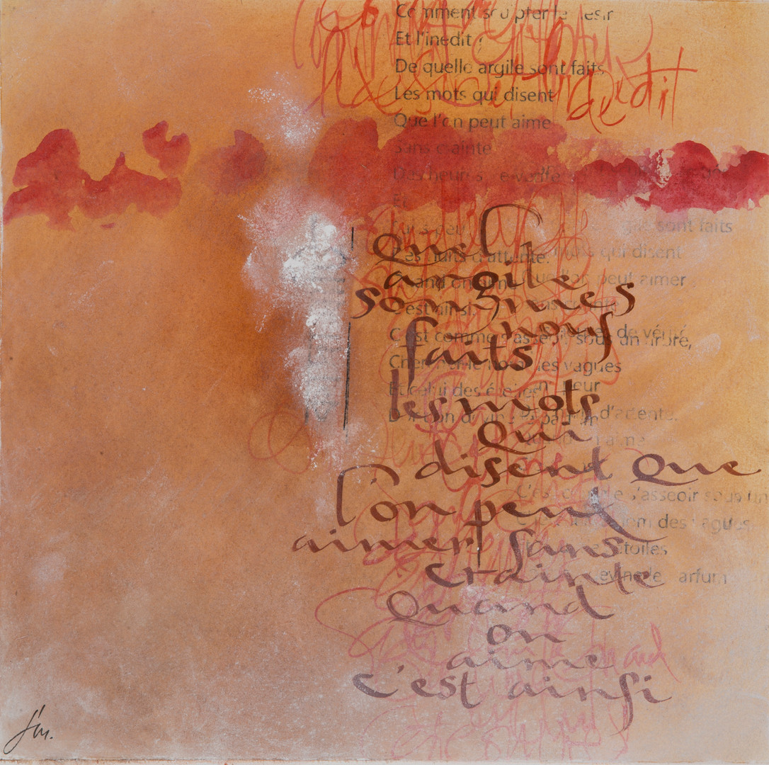 Francoise Michaud calligraphie