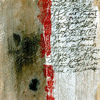 Françoise Michaud calligraphie Technique mixte sur papier - 20x20 Vendu