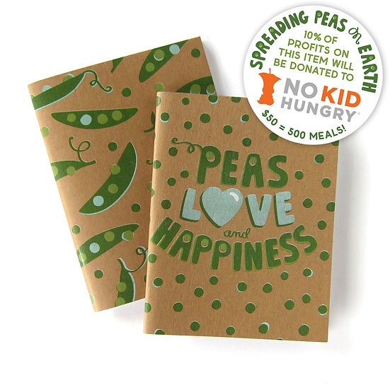 Peas, Love, Happiness (Notebooks)